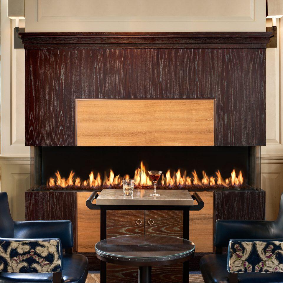 Elegant Fireplace Lounge living room hearth hardwood home cottage cabinetry