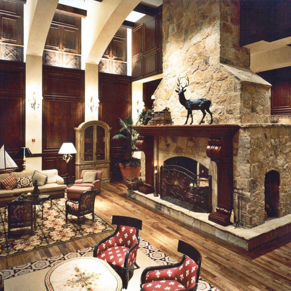 Elegant Fireplace Lounge Rustic living room hearth home mansion cottage stone