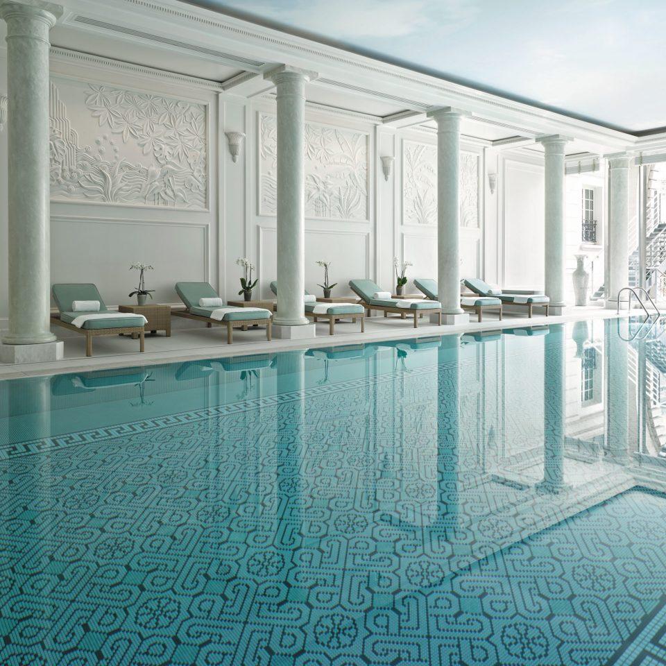 Elegant Fitness France Hotels Luxury Paris Pool Romance Romantic Wellness swimming pool property building mansion flooring condominium blue