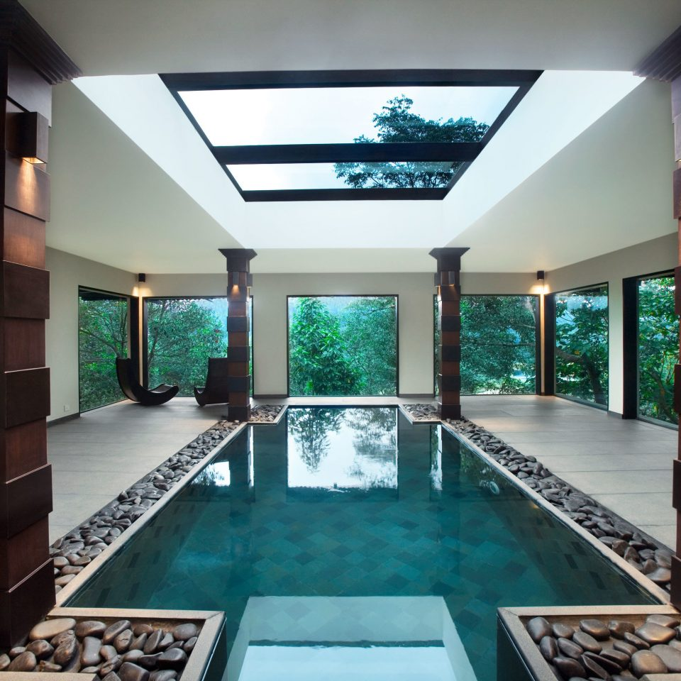 Elegant Forest Hotels Lounge Luxury Patio Pool Scenic views Villa swimming pool leisure property building Resort mansion condominium Lobby home Island stone