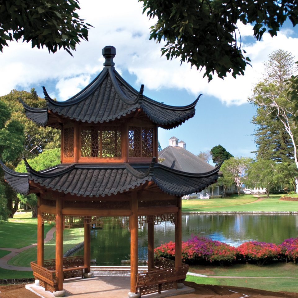 Elegant Garden Grounds Lodge Resort tree sky chinese architecture building temple shinto shrine shrine pagoda park gazebo shade