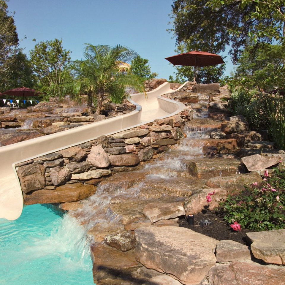 Elegant Pool Rustic tree rock swimming pool Resort backyard walkway Nature water feature pond yard Garden stone