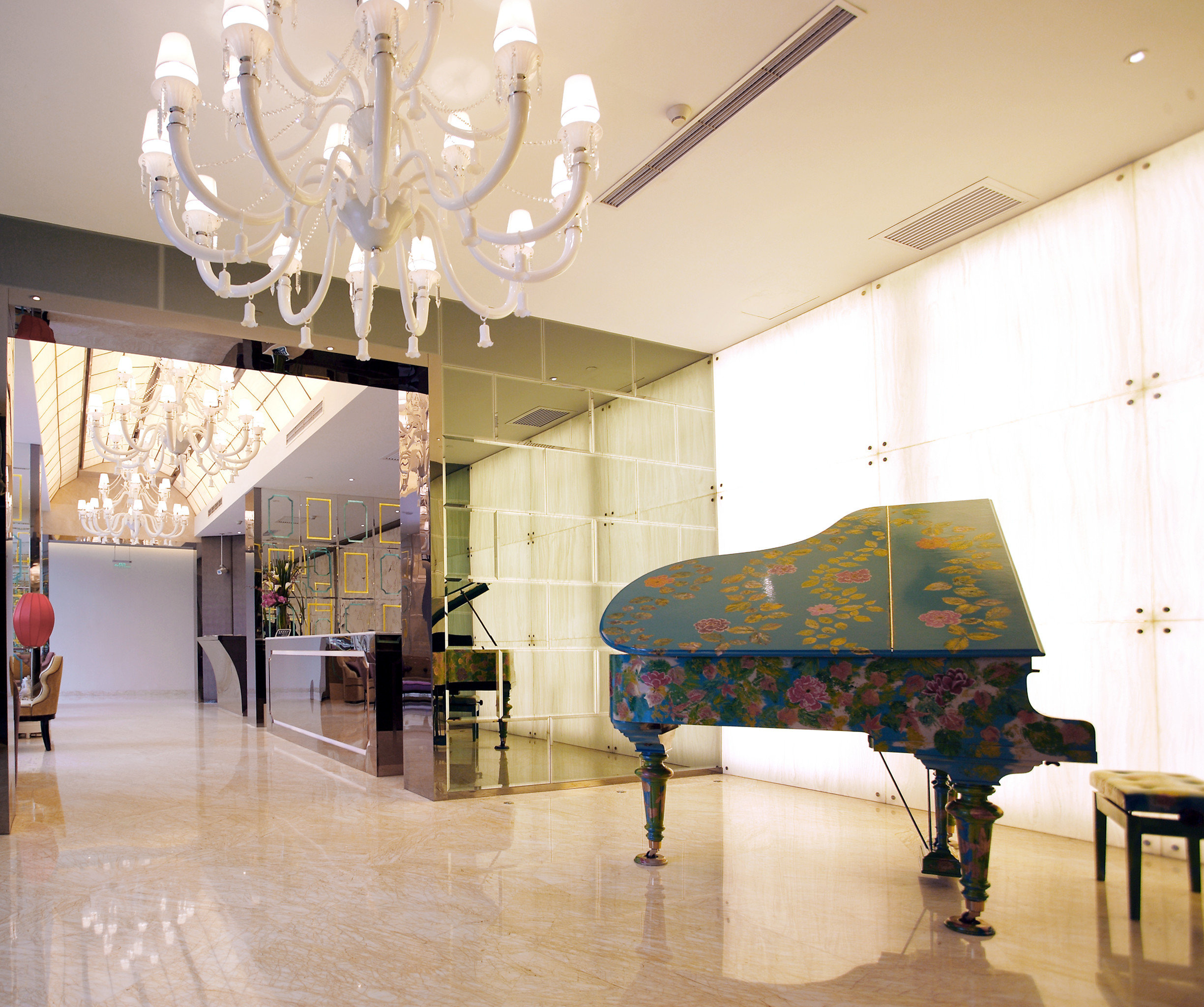 Elegant Hip Lounge Luxury Modern Lobby lighting tourist attraction living room museum hall