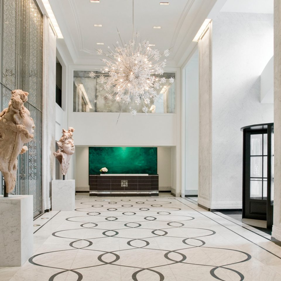Elegant Hip Lobby Luxury Modern property living room home hall lighting flooring