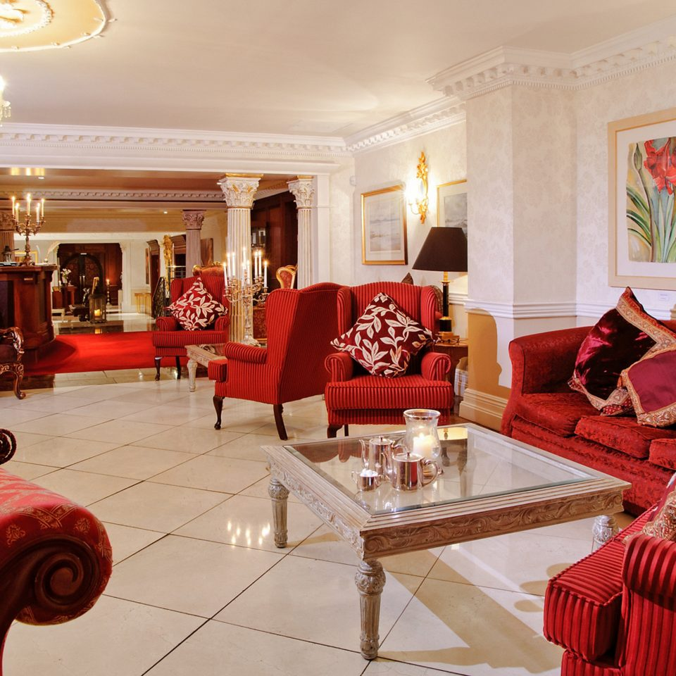 Elegant Historic Lobby Lounge sofa property red living room Suite home