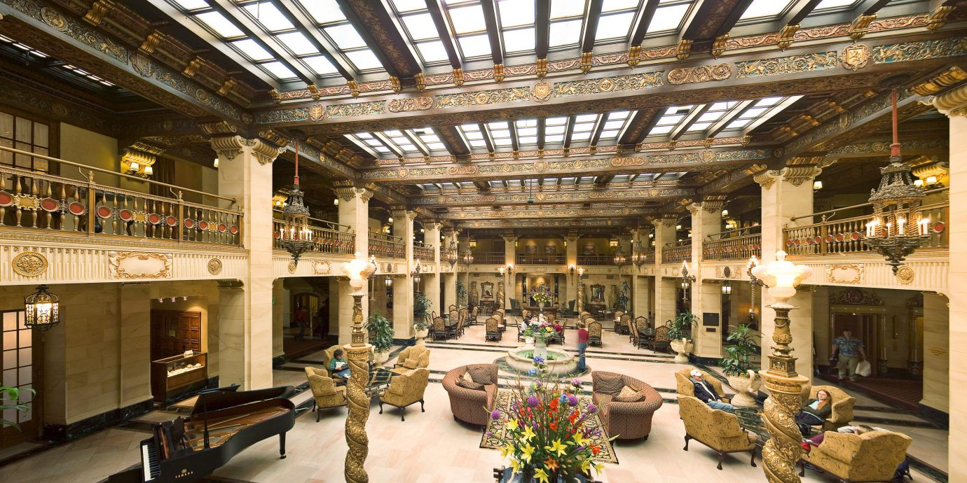 Elegant Historic Lobby Lounge Luxury building palace plaza arcade shopping mall tourist attraction
