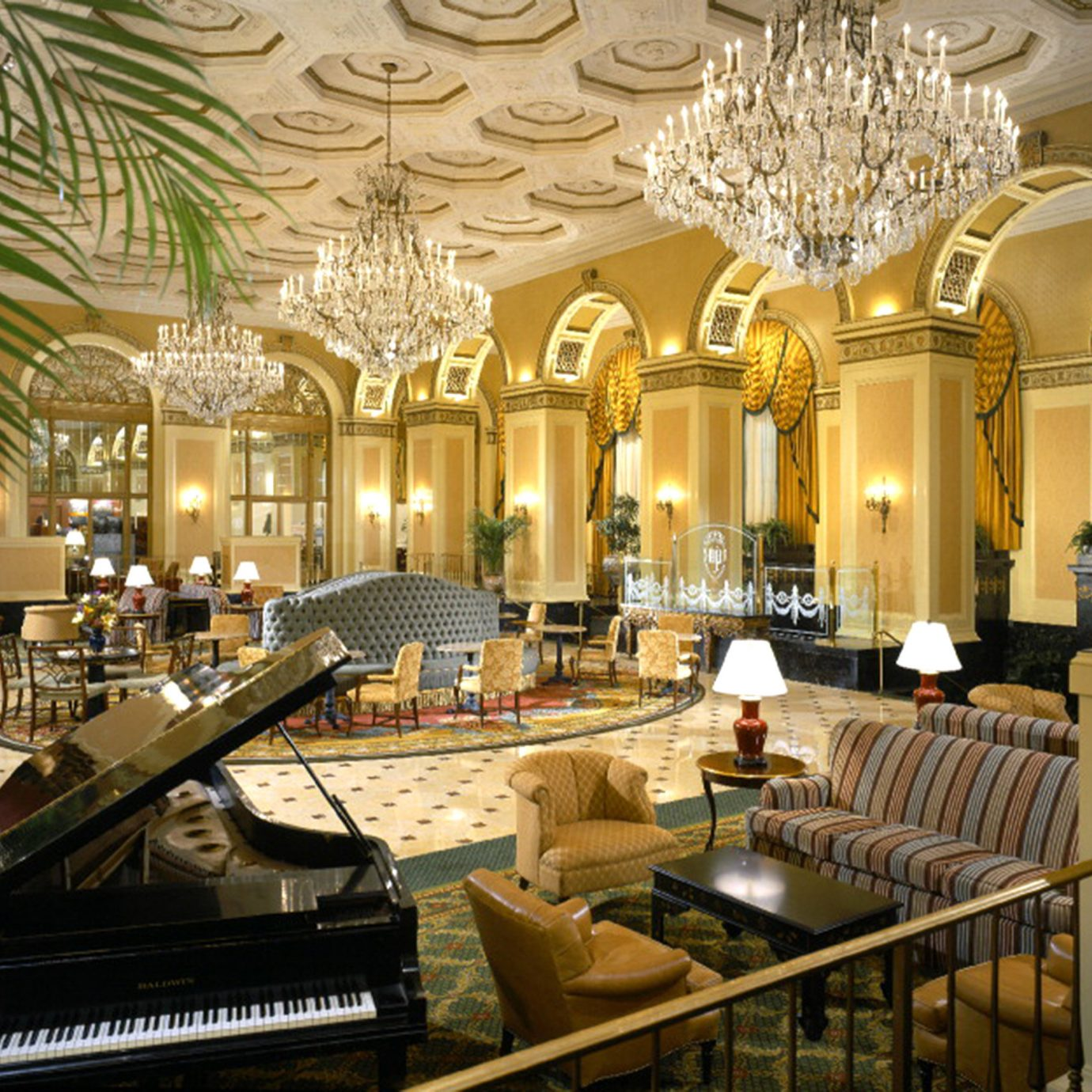 Elegant Historic Lobby Lounge Luxury palace function hall mansion ballroom convention center