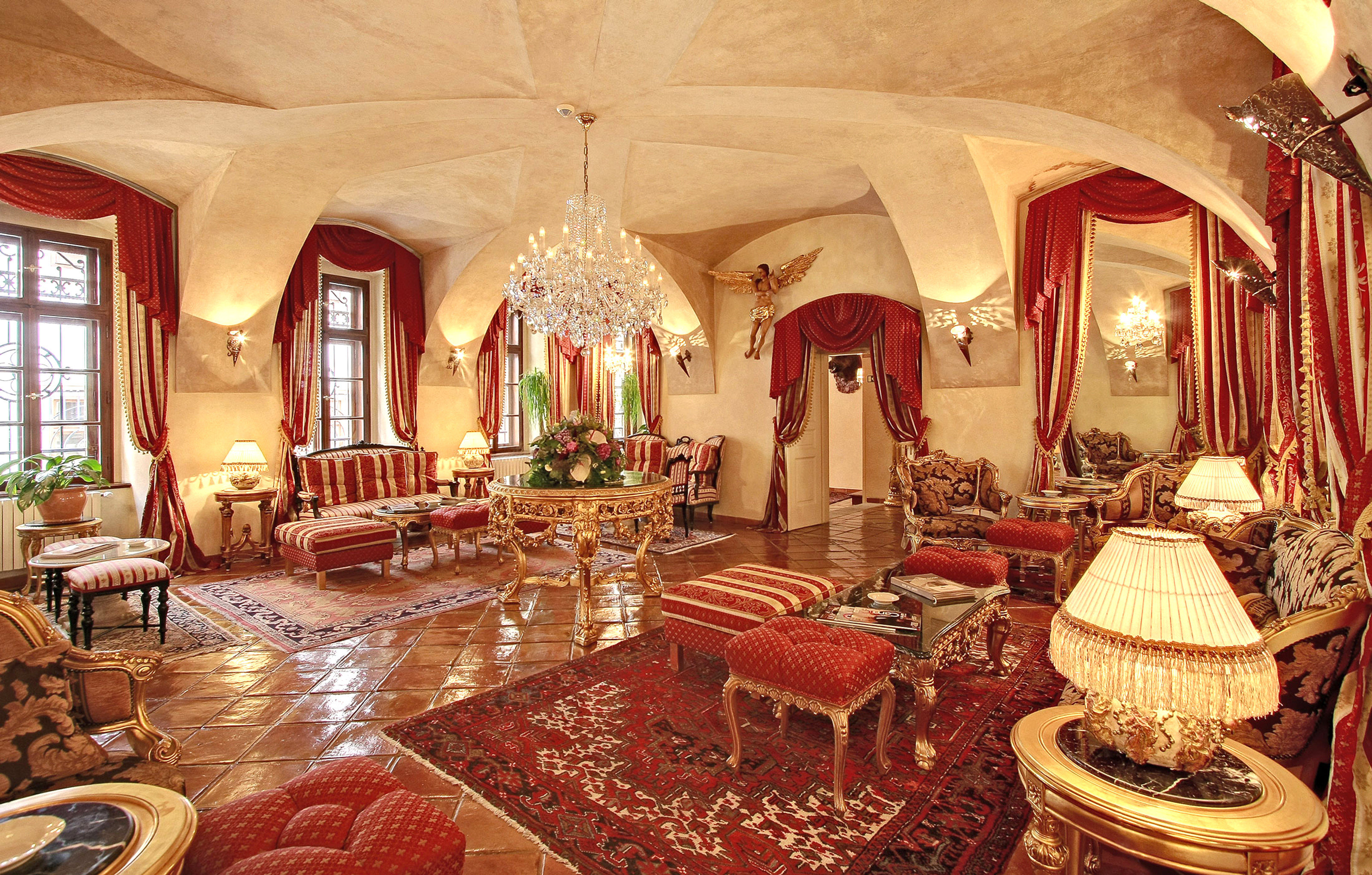 Elegant Historic Lounge Luxury chair function hall palace Lobby mansion ballroom restaurant hacienda