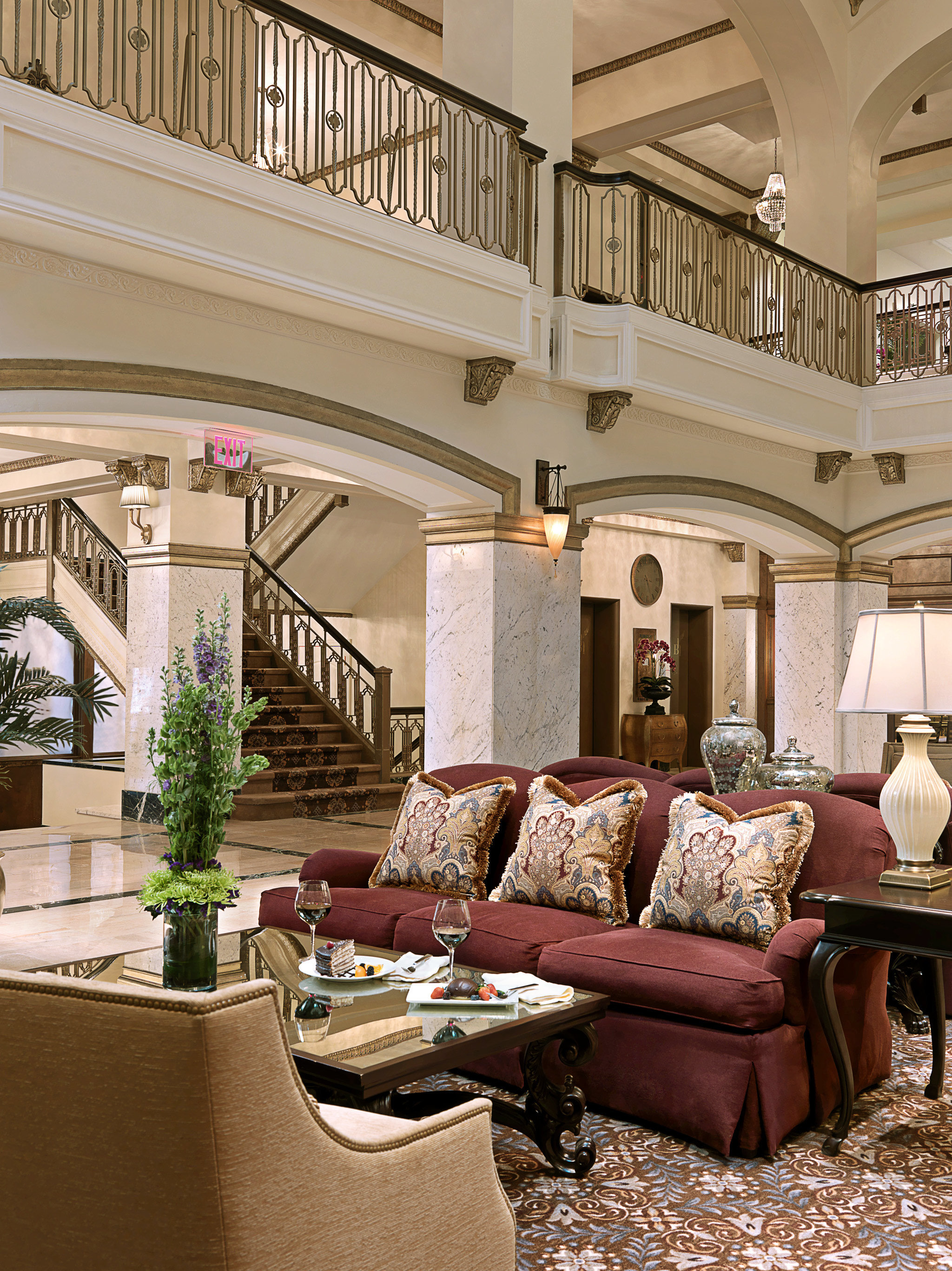 Elegant Historic Lobby Lounge Luxury property living room home house mansion porch