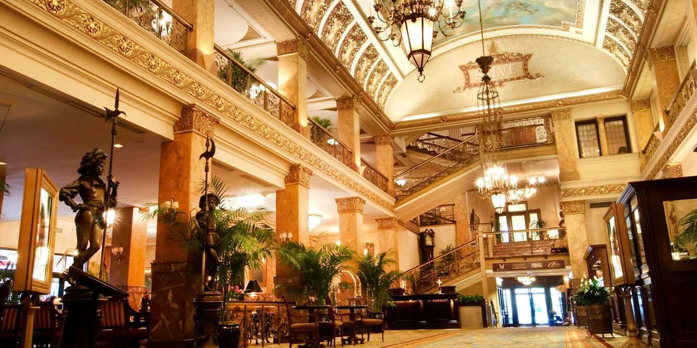 Elegant Historic Lobby Lounge plaza building palace shopping mall ballroom