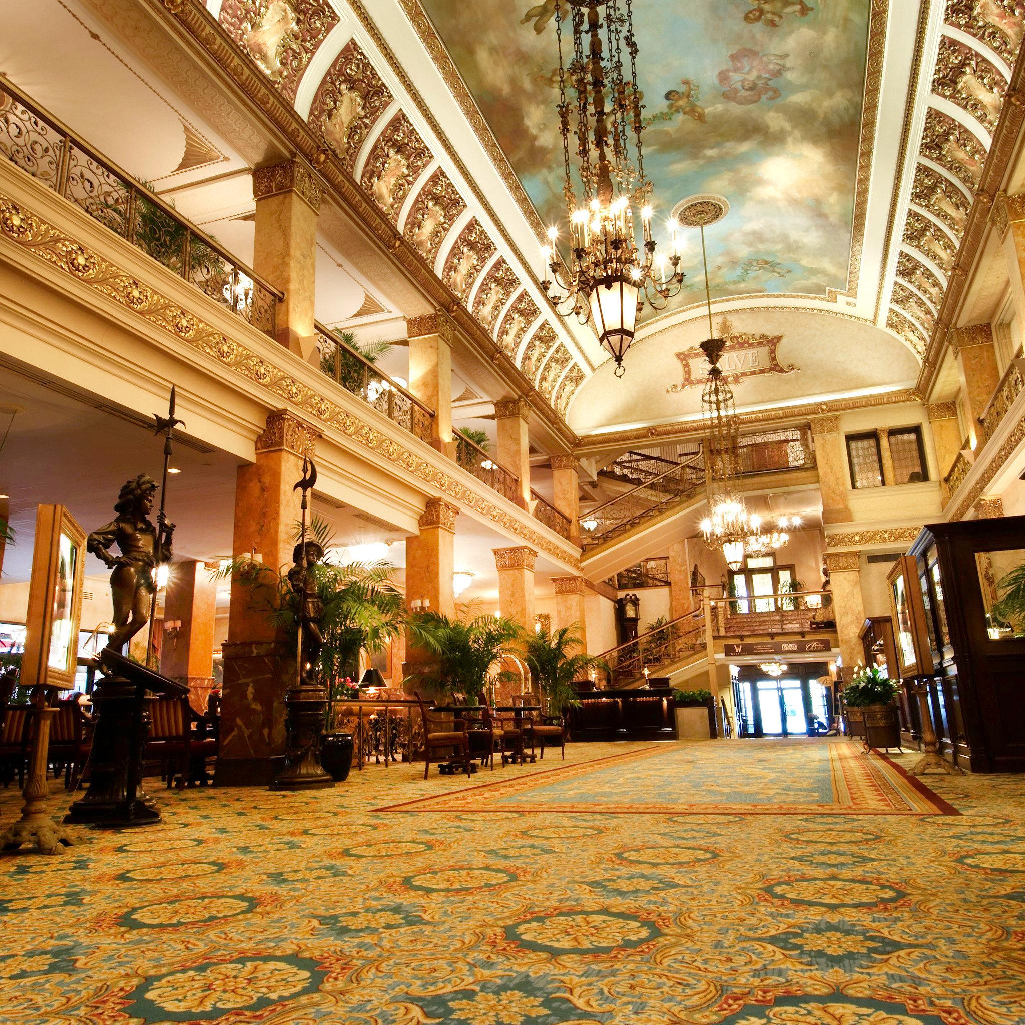 Elegant Historic Lobby Lounge plaza building palace shopping mall ballroom