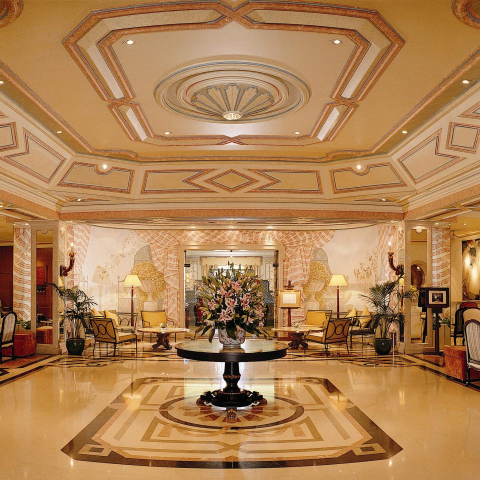 Elegant Historic Lobby Luxury building palace mansion hall ballroom ancient history tourist attraction chapel synagogue