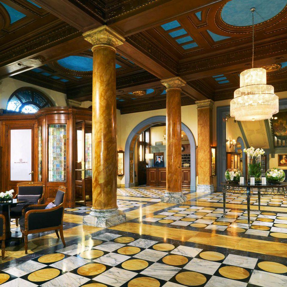 Elegant Historic Lobby Luxury building palace function hall restaurant ballroom mansion Resort living room