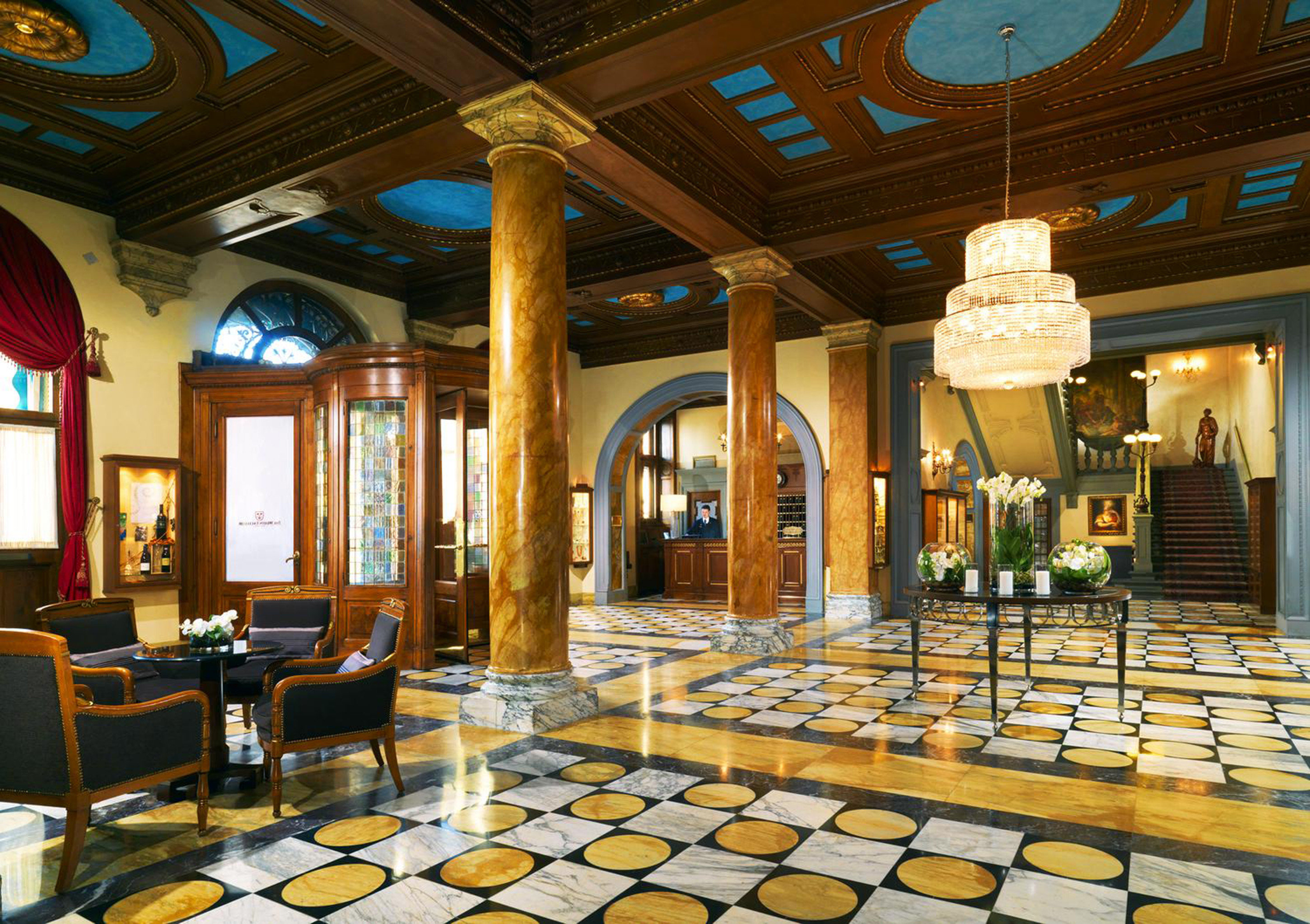 Elegant Historic Lobby Luxury building palace function hall restaurant ballroom mansion Resort living room