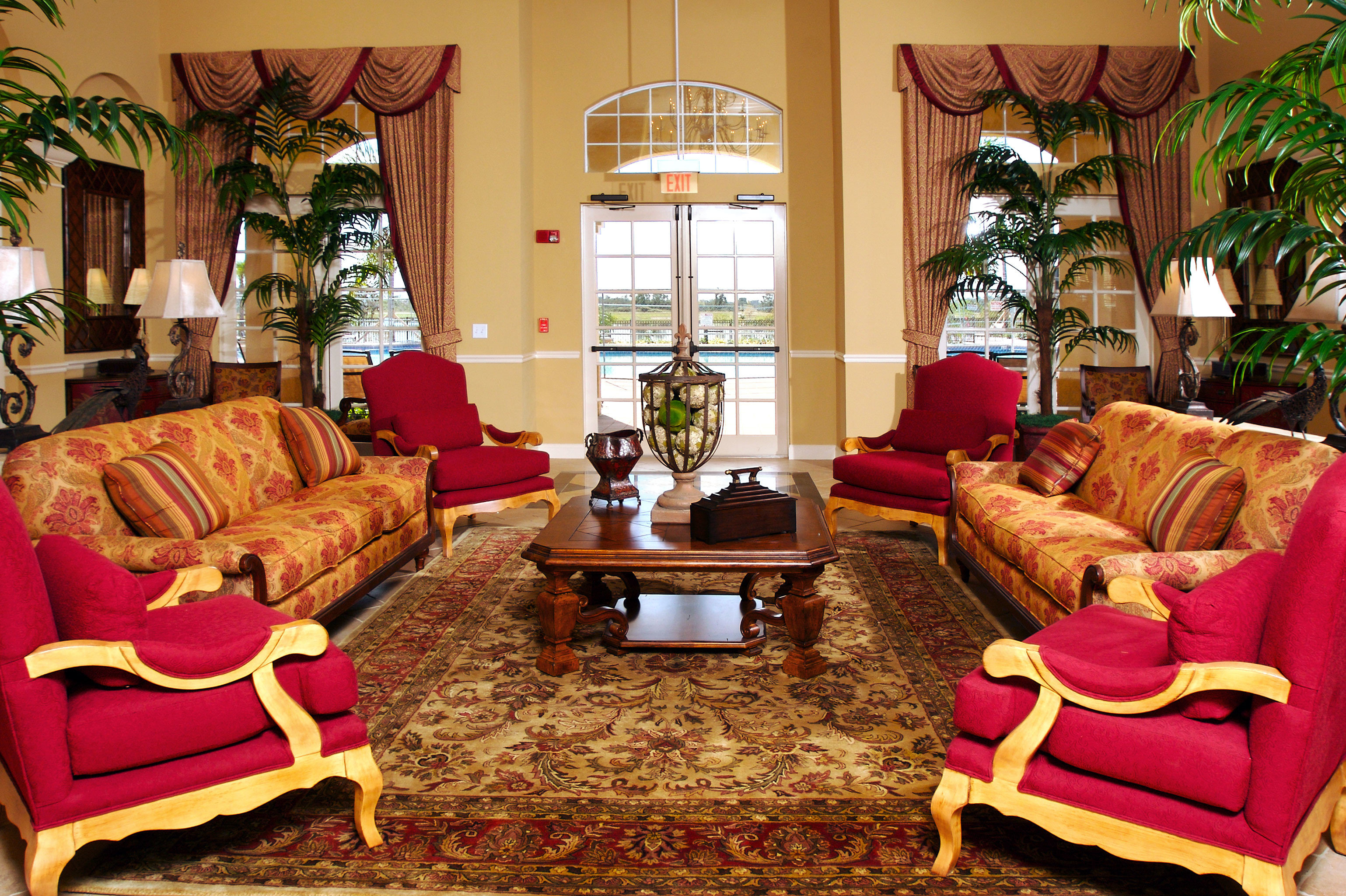 Elegant Historic Lounge Luxury sofa living room property home red porch cottage rug leather