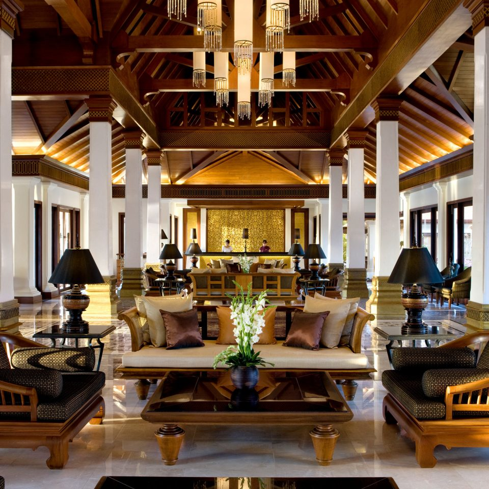 Elegant Honeymoon Jungle Lobby Lounge Luxury Nature Romantic Tropical building home mansion palace Resort living room