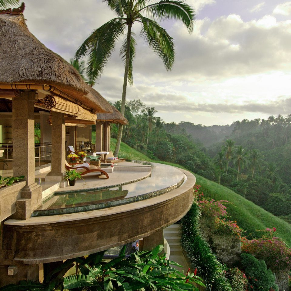 Elegant Hotels Luxury Pool Tropical Resort Jungle mansion stone