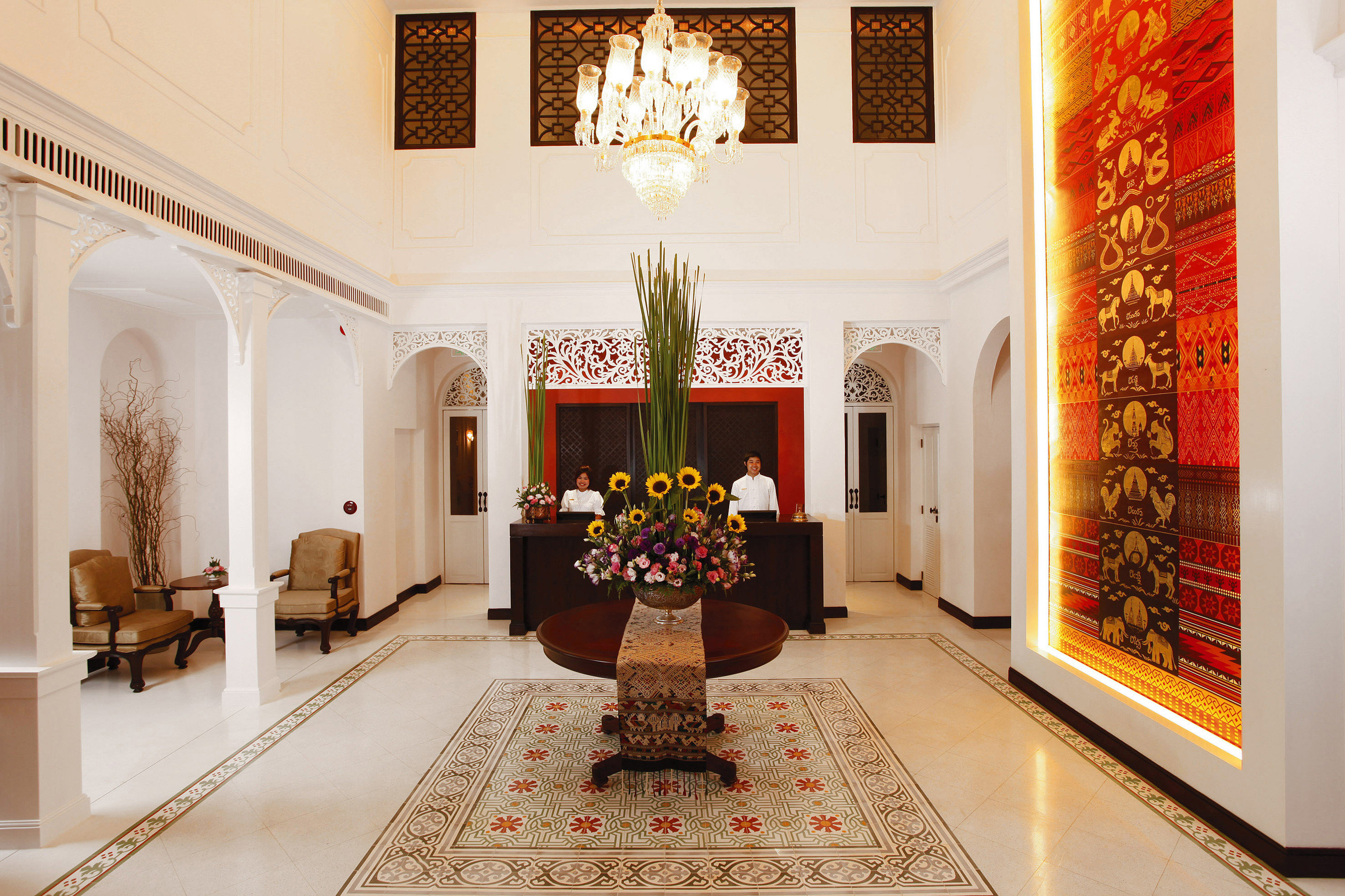 Elegant Jungle Lobby Lounge hall home living room mansion palace tourist attraction art gallery