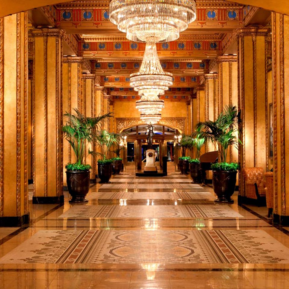 Elegant Lobby building palace aisle wooden function hall ballroom place of worship colonnade