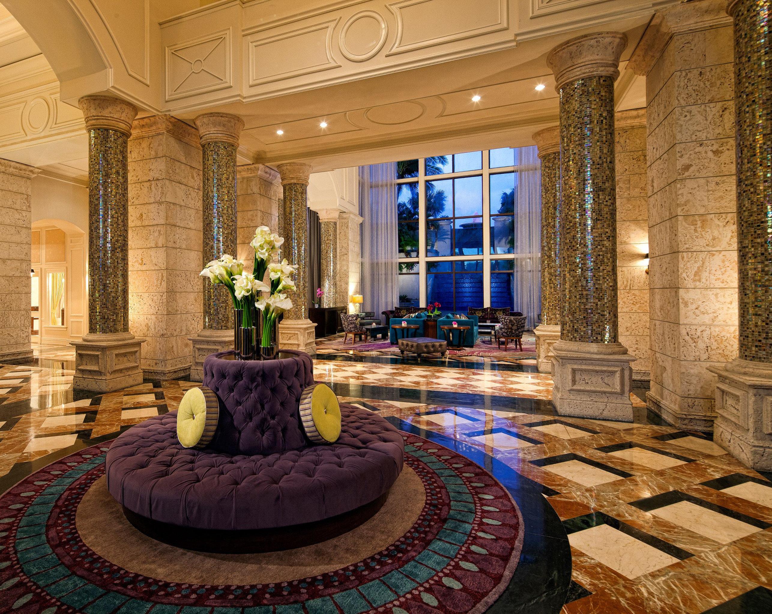 Elegant Lobby Lounge property living room mansion home flooring palace ballroom swimming pool backyard stone fancy colonnade