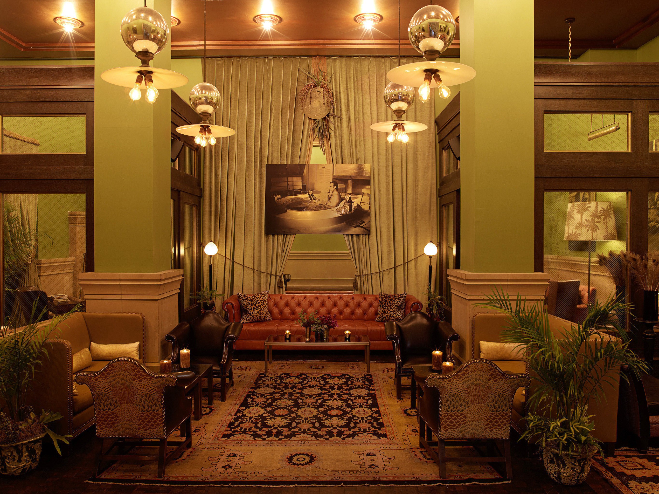 Elegant Lobby Lounge Luxury living room mansion lighting home altar ballroom