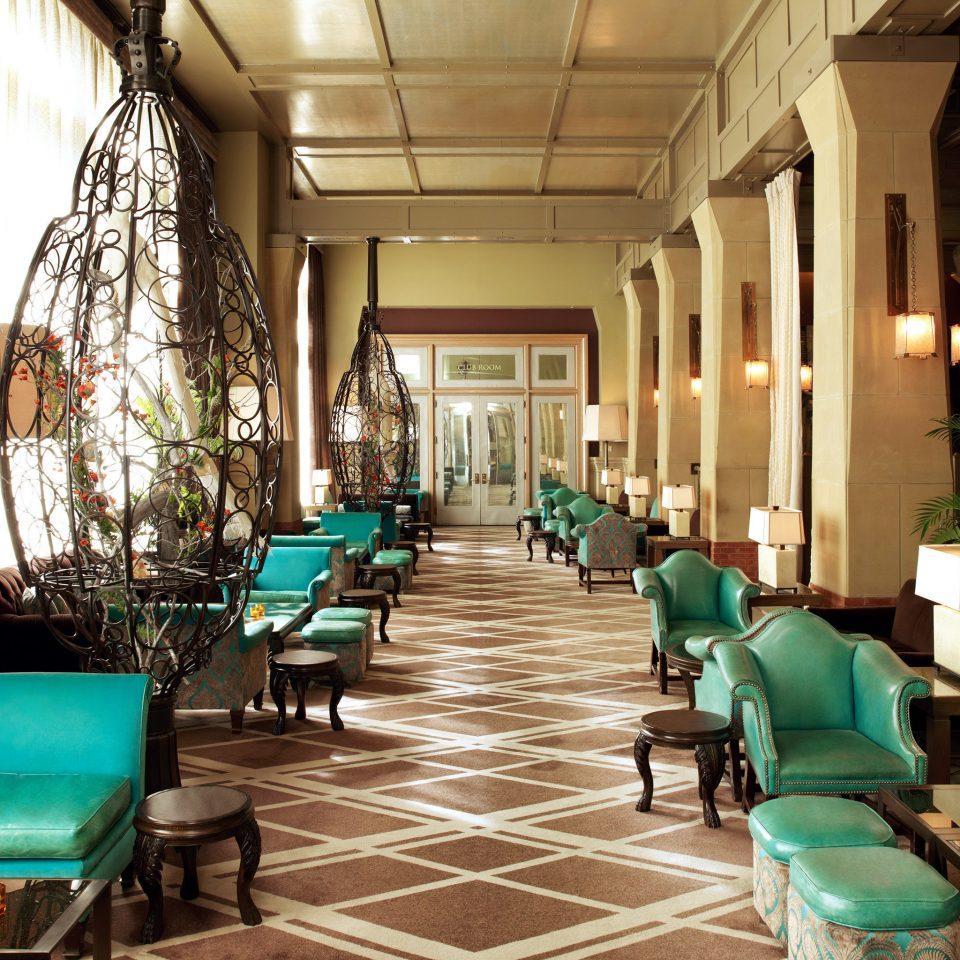 Elegant Lounge Luxury green Lobby restaurant living room blue Resort