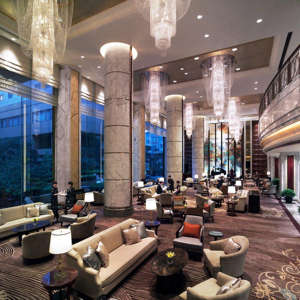 Elegant Lobby Lounge Luxury Modern building property scene plaza condominium shopping mall