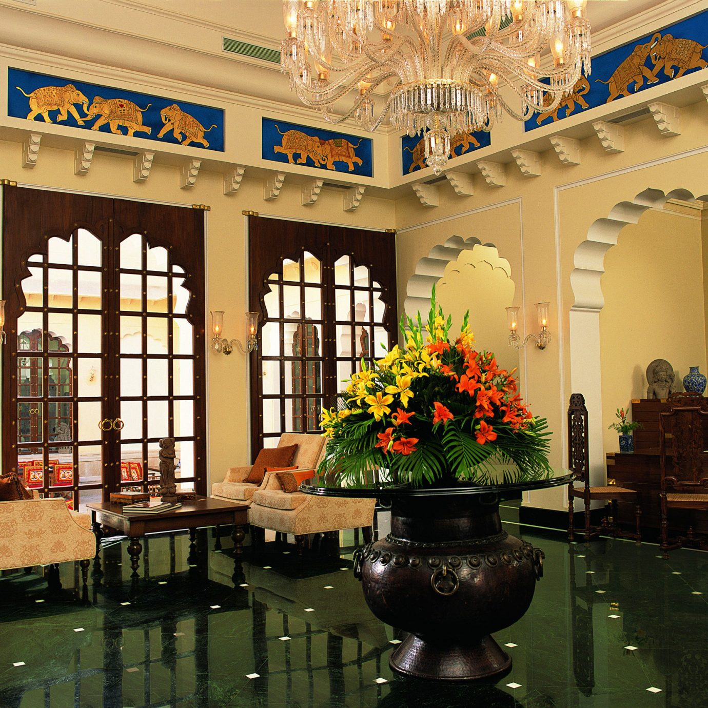 Elegant Lounge Luxury Resort building Lobby home restaurant
