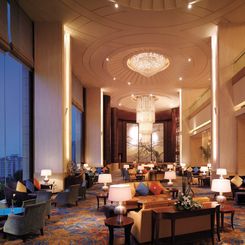Elegant Lobby Lounge Luxury Scenic views restaurant function hall convention center ballroom