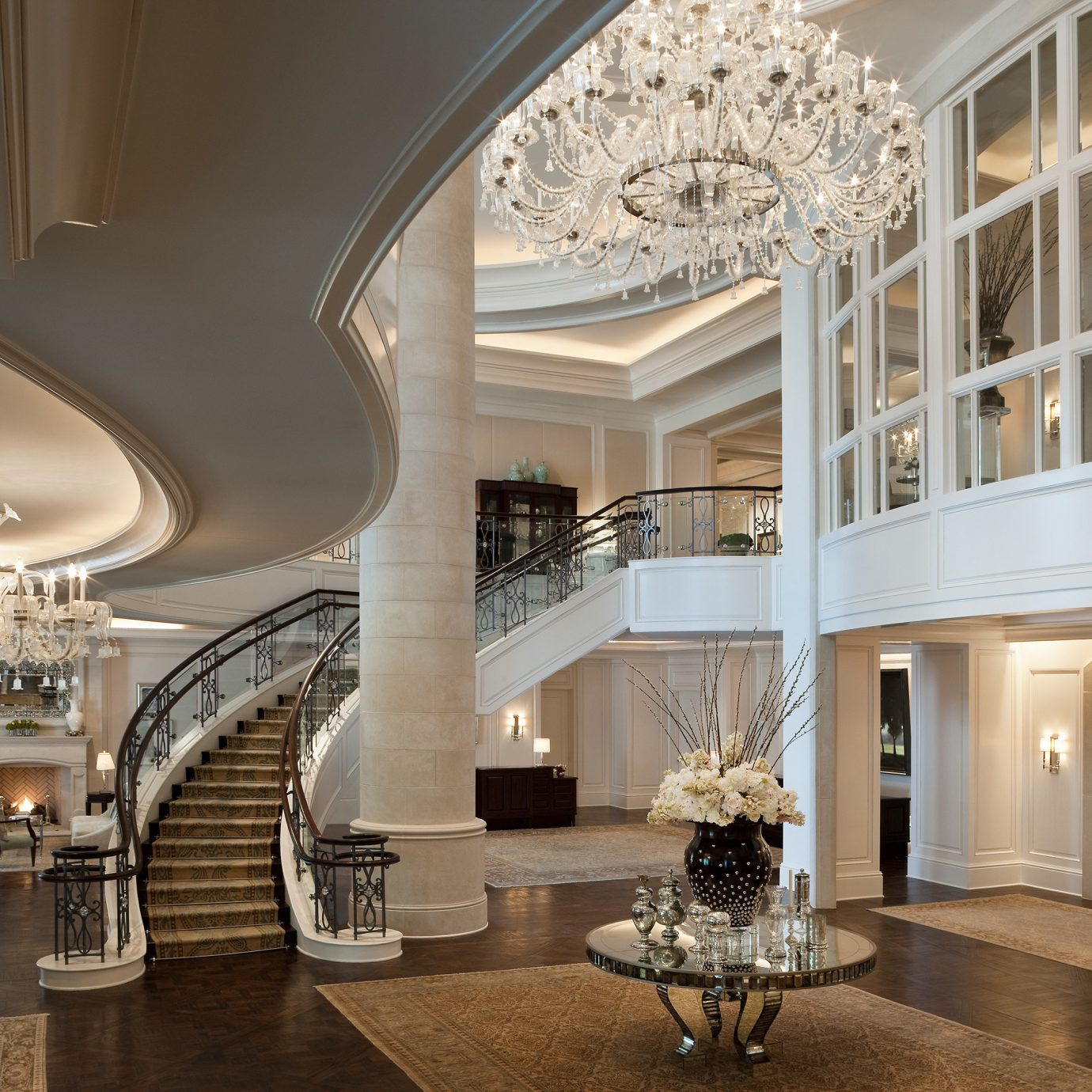 Elegant Lobby Lounge Luxury property mansion lighting daylighting palace hall ballroom