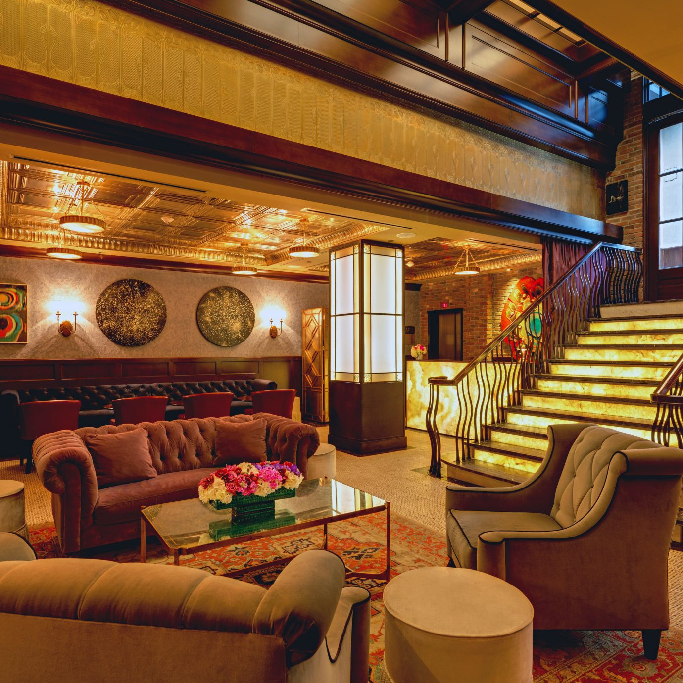 Elegant Lobby Lounge Modern sofa living room recreation room home Resort restaurant cottage
