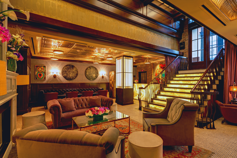Elegant Lobby Lounge Modern sofa living room recreation room home Resort restaurant cottage