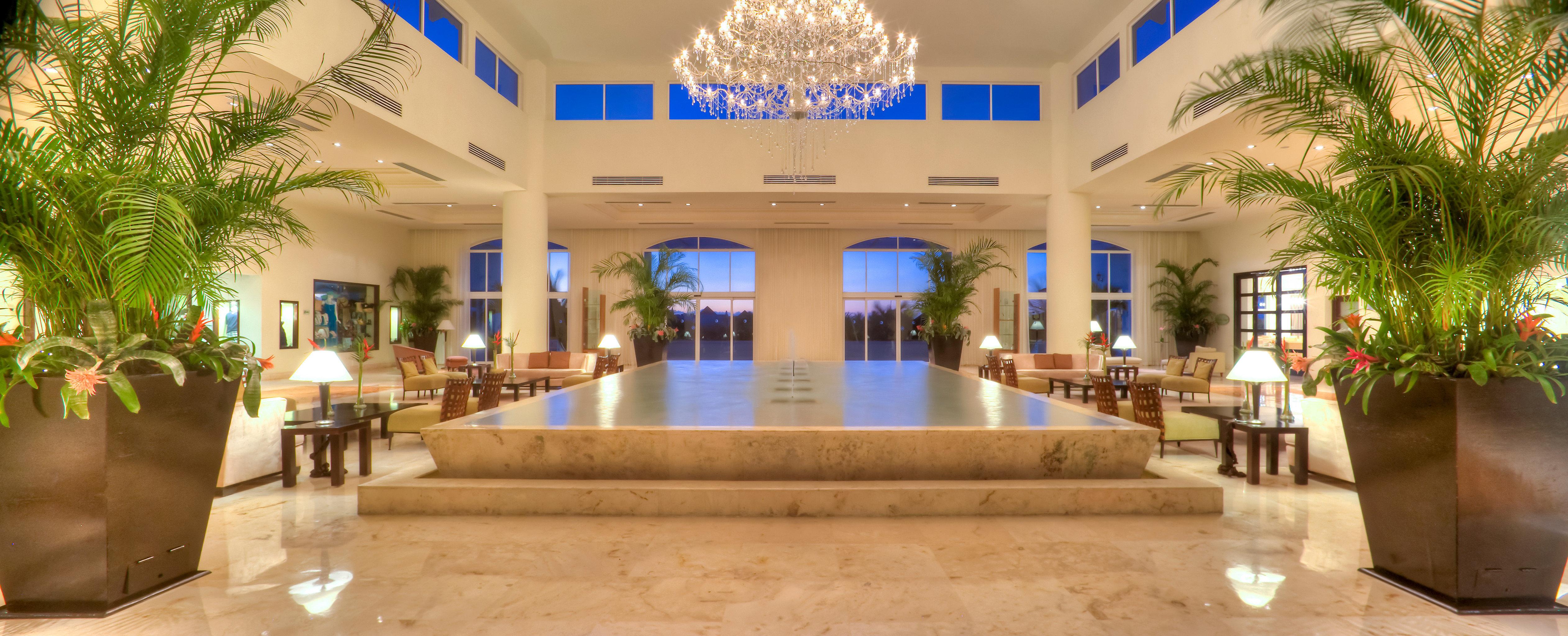 Elegant Lobby Lounge leisure building Resort shopping mall plaza plant Modern