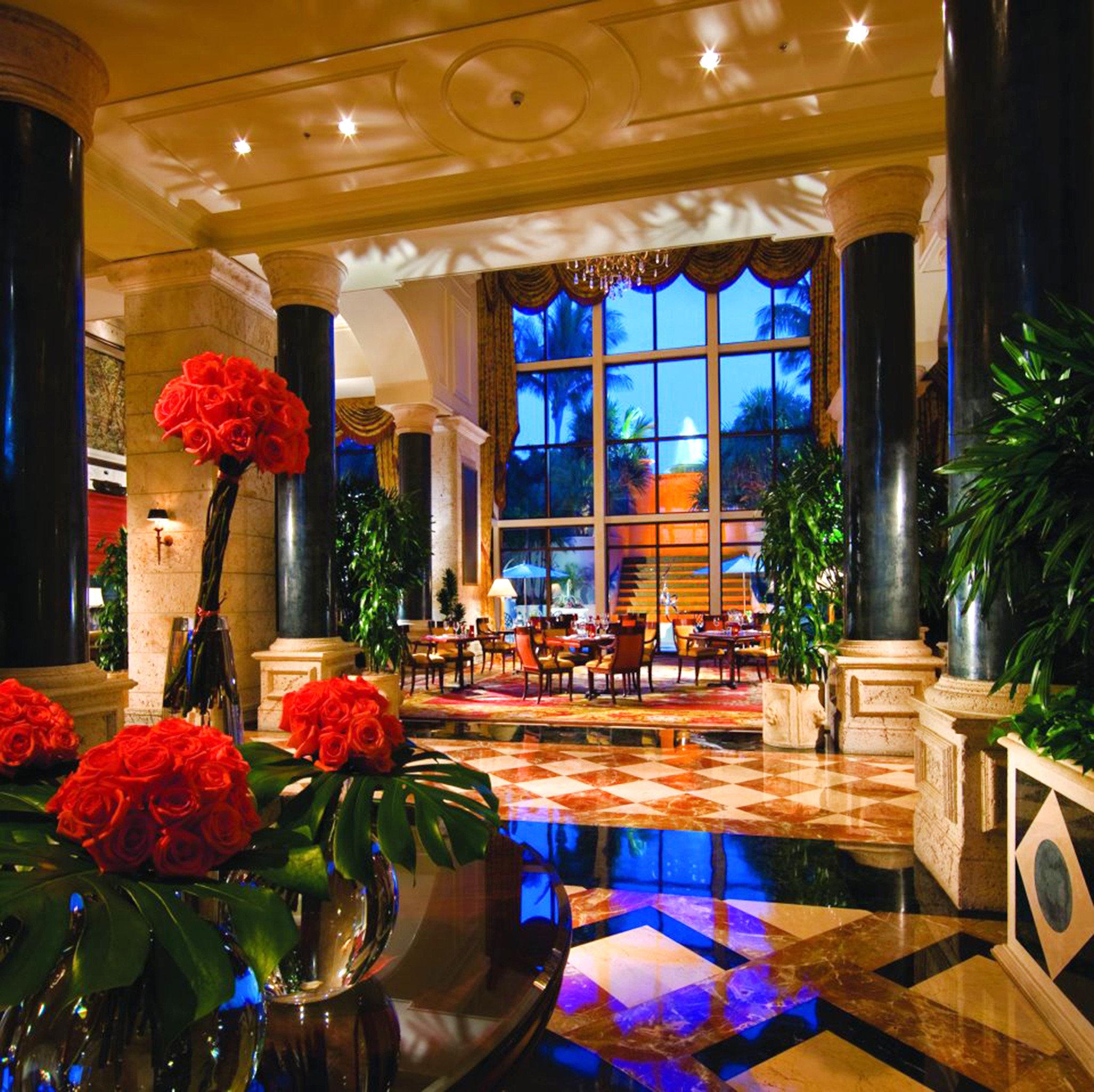 Elegant Lobby Lounge Waterfront function hall Resort ballroom restaurant flower