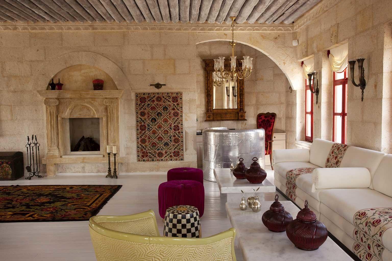 Elegant Lobby Lounge Rustic property living room building mansion home cottage palace Villa