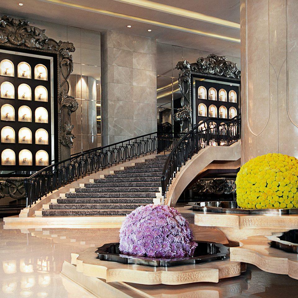 Elegant Lobby Luxury living room home lighting flooring mansion