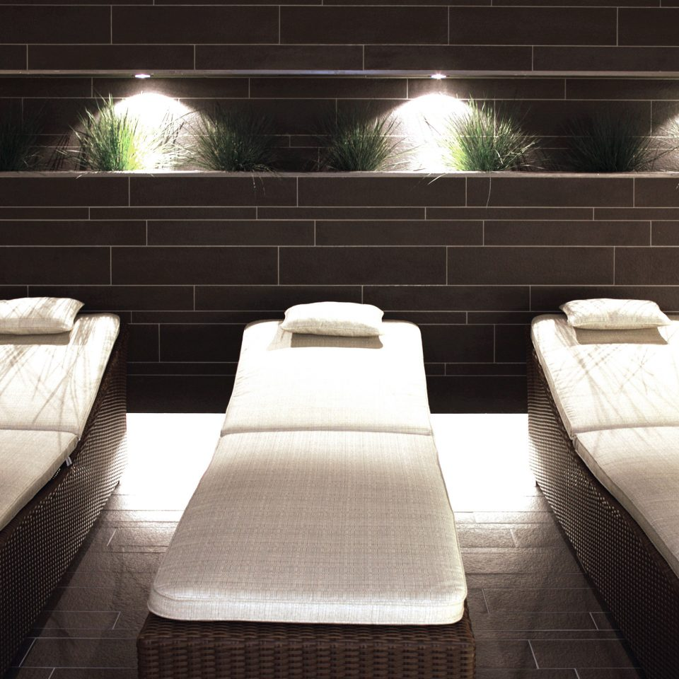 Elegant Luxury Modern Spa Wellness auditorium Lobby night