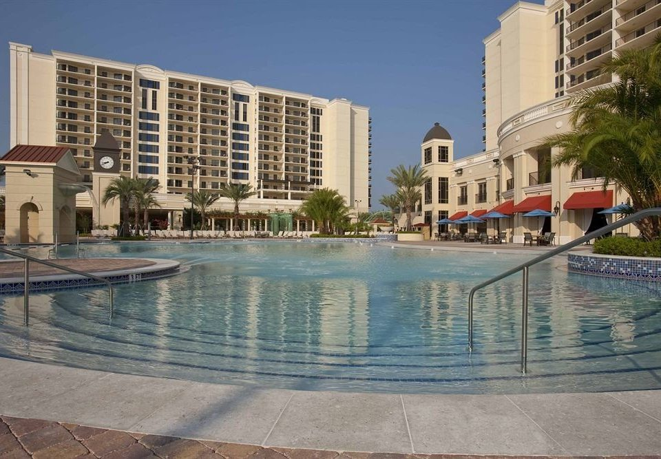 Elegant Lounge Luxury Modern Pool building sky water condominium swimming pool property plaza reflecting pool Resort shore