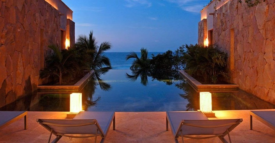 Elegant Lounge Luxury Pool Resort house evening hacienda Villa screenshot