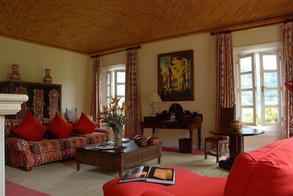 Elegant Lounge Luxury Rustic red property living room house home Villa cottage mansion Suite