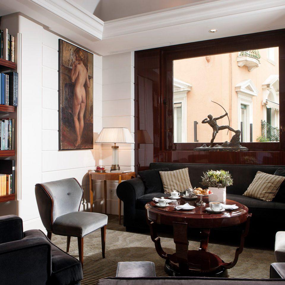 Elegant Lounge sofa living room property shelf home condominium Suite leather