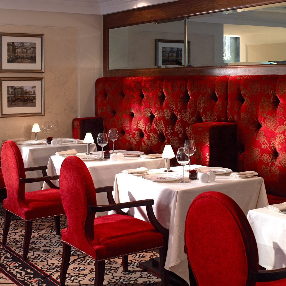 Elegant Luxury Modern red living room restaurant Suite dining table