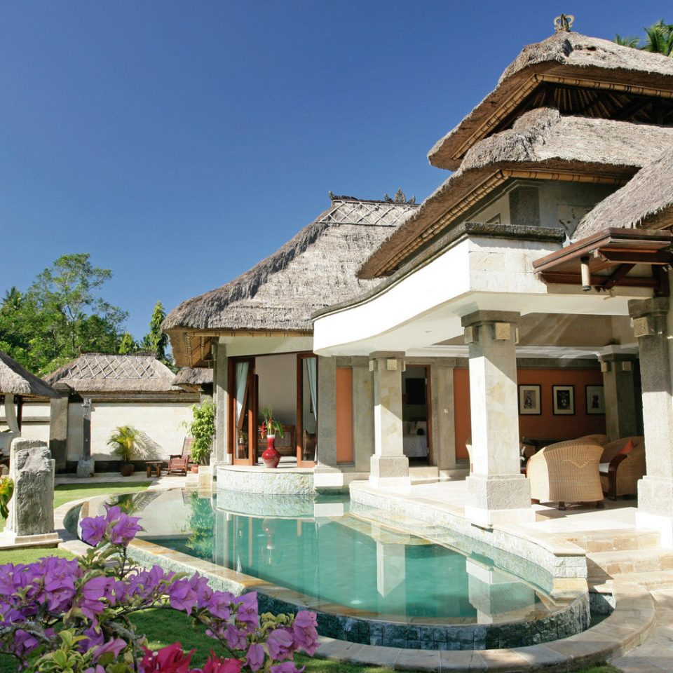 Elegant Luxury Pool Tropical building property house Resort Villa home mansion swimming pool Village cottage