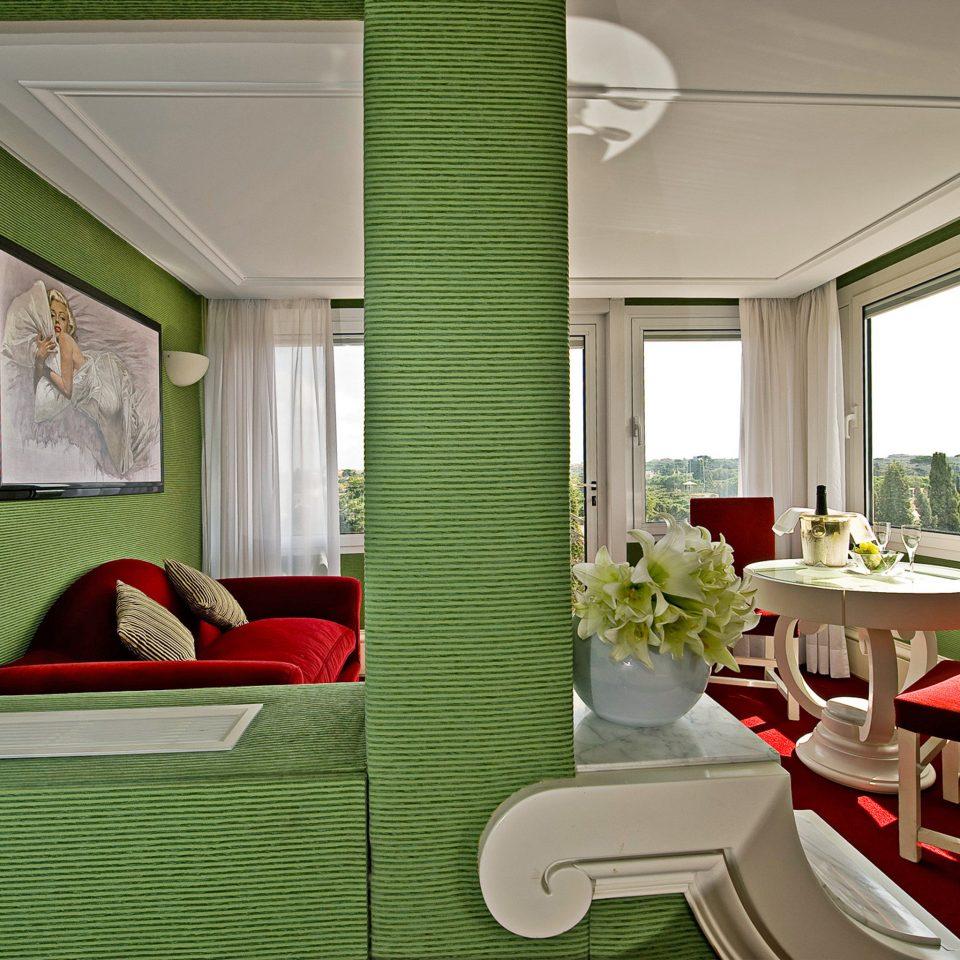 Elegant Scenic views Suite green chair property living room home condominium cottage