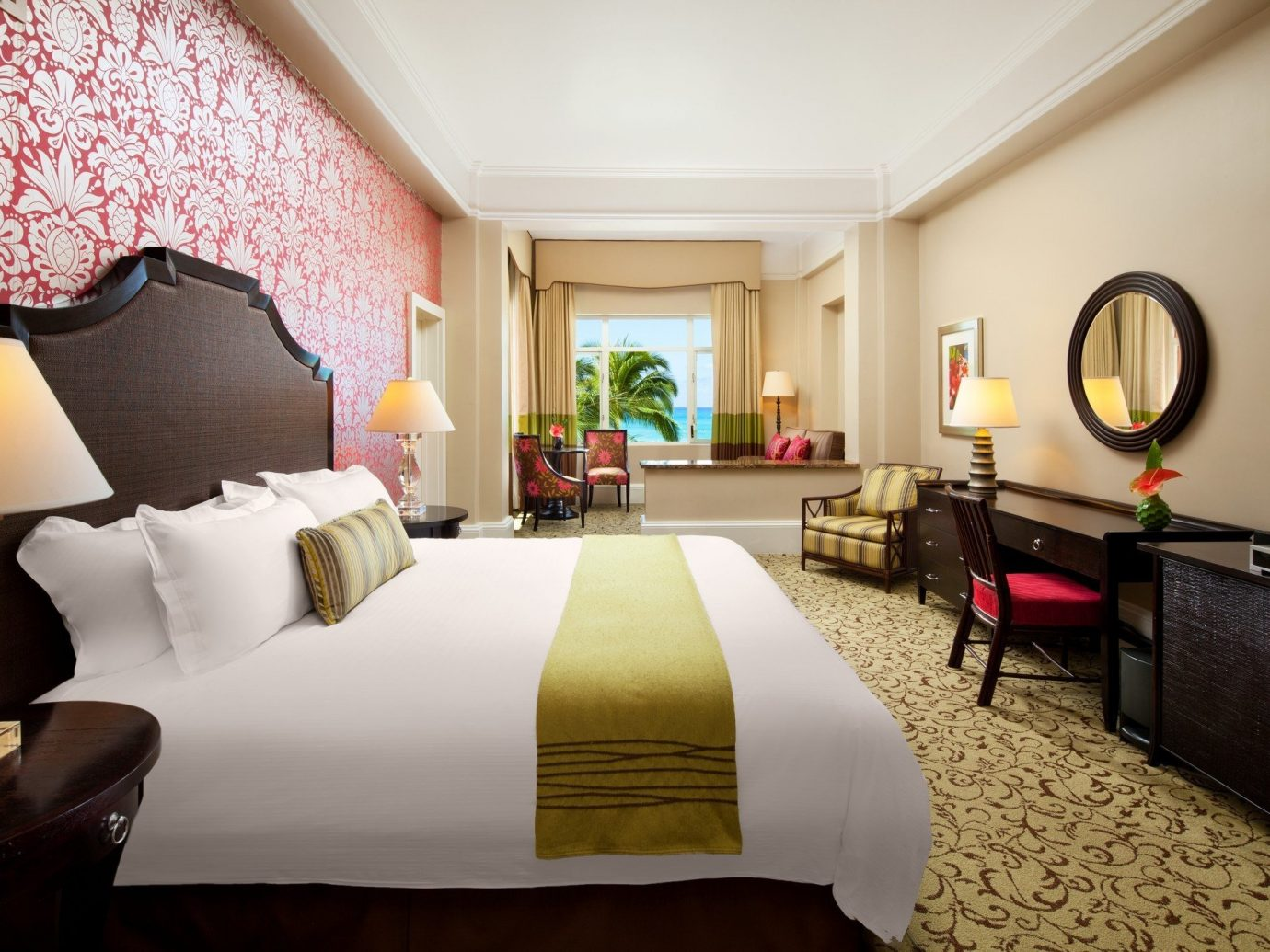 Boutique Hotels Hawaii Honolulu Hotels indoor wall sofa room floor Living hotel Suite interior design ceiling furniture Bedroom decorated nice interior designer flat area lamp several