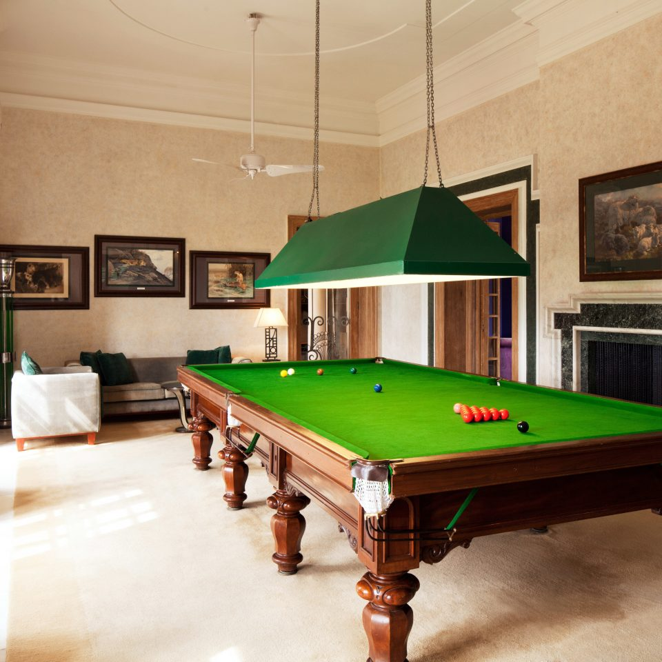 Entertainment Lodge Play pool table billiard room poolroom recreation room green carom billiards cue sports billiard table snooker scene games indoor games and sports Pool