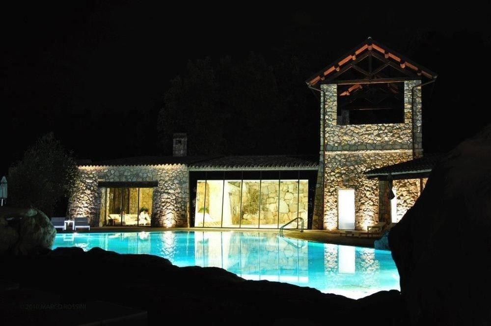 house night light lighting evening landscape lighting mansion