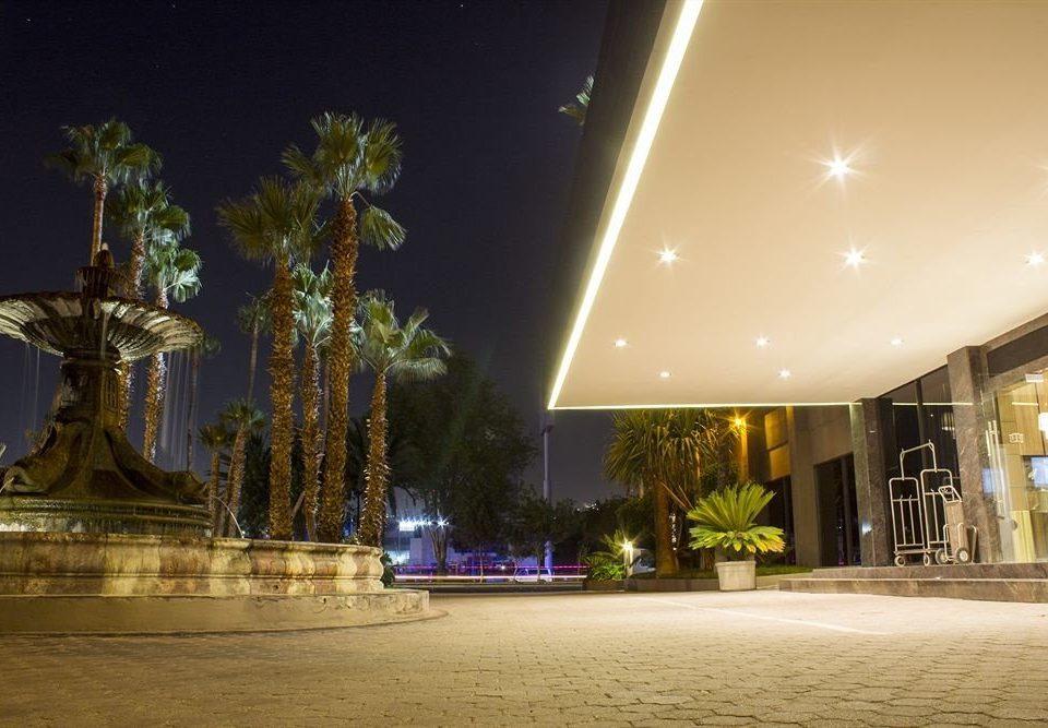 night landmark light lighting plaza evening