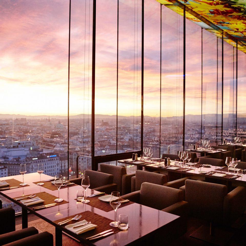 restaurant evening overlooking