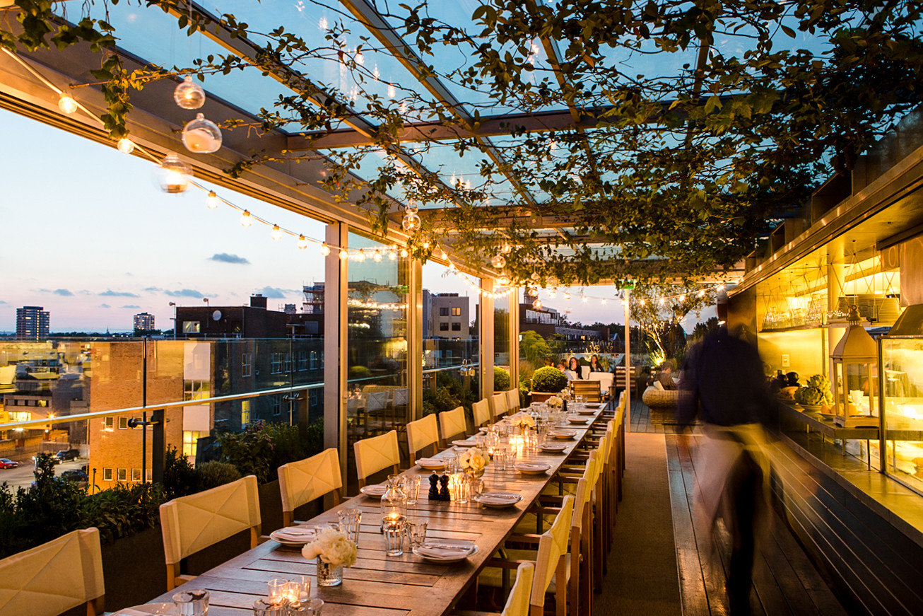 Food + Drink Trip Ideas outdoor reflection restaurant evening tree City sky